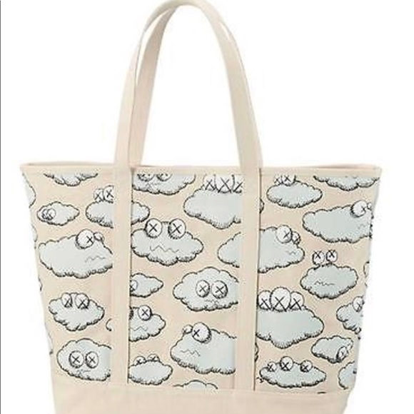 "Uniqlo x KAWS Handbags - UNIQLO × KAWS ""SICK CLOUDS"" COLLECTION TOTE"